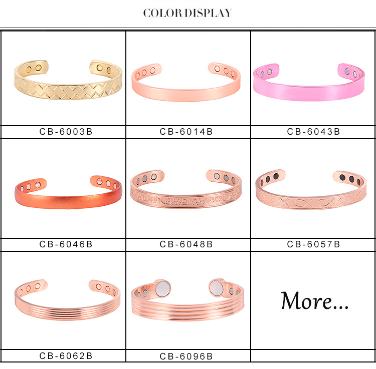 Factory Fast Delivery Custom Magnetic Copper Charm Bangle Bracelet