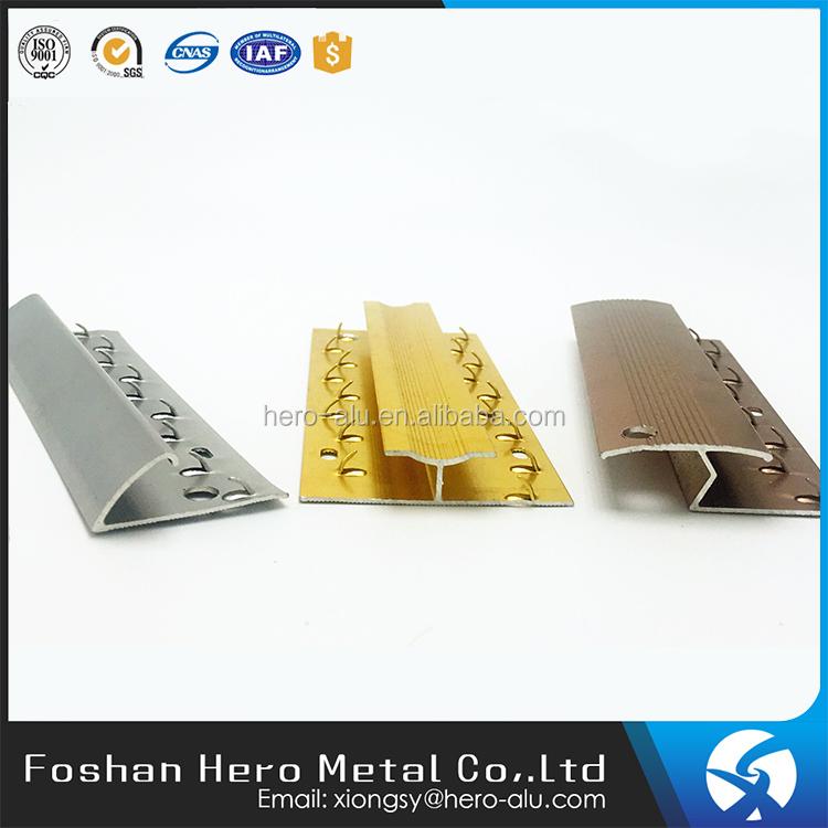 Flexible Aluminium Trim Pvc Boden Sockelleisten Doppel Teppich Trim