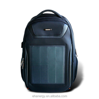 Hanergy cigs business backpack with solar panel