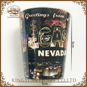 top quality souvenir gift Las Vegas coffee cup glass