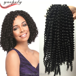 cheap synthetic african spring twist hair braiding , nubian twist crochet braids