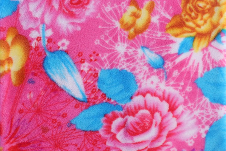 China supplier 100% polyester wholesale knitted print flannel fleece fabric