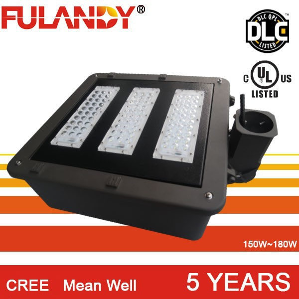 ul listed 110V parking lot light replacement 400w MH/HPS lights with DLC UL Shoe box light 150w