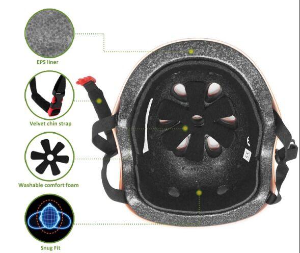 CPSC/CE EN 1078/AS-NZS approved kids scooter helmet 9