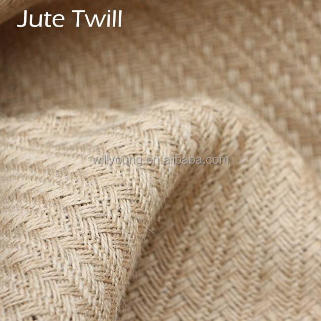 jute cloth twill style jute knitted fabric big twill Natural jute material No post-processing Slightly rough surface resist wear