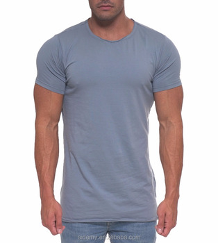 344548096175 wholesale cotton t shirts bulk blank plain men fitted fishtail design t  shirts
