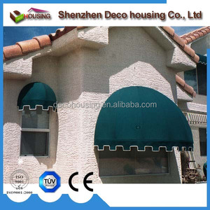 2016 style waterproof dome acrylic fabric half round window awning wholesale