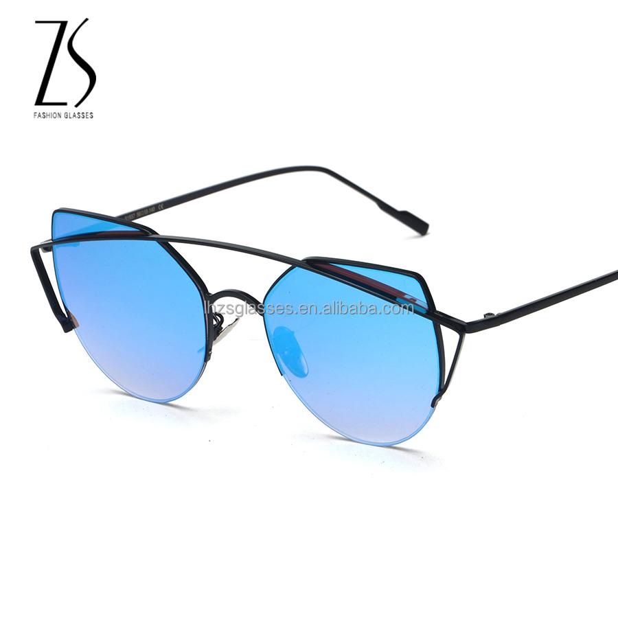 Doble l nea marco gafas de sol de alta calidad 2017 de moda de gafas de sol de las mujeres - Occhiali da sole specchiati 2017 ...