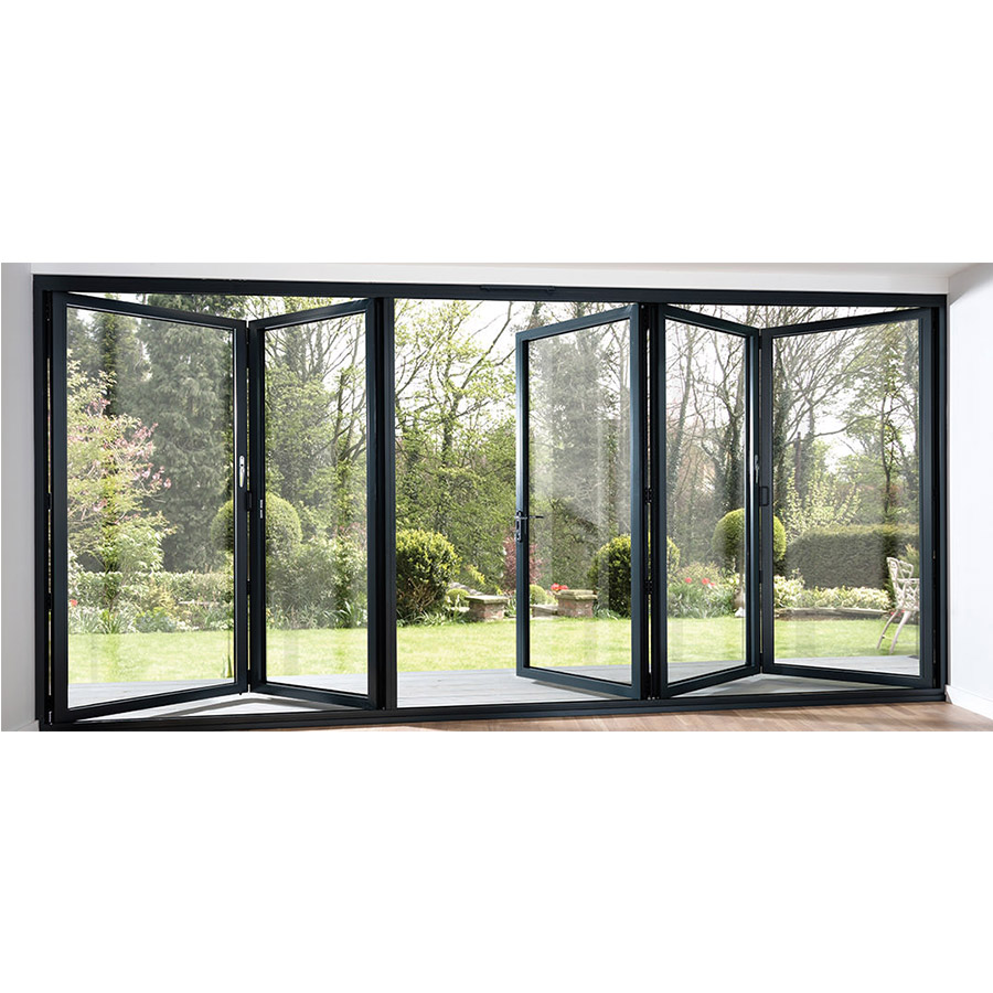 2019 High Quality Aluminum Folding Doors For Balcony With Beautiful