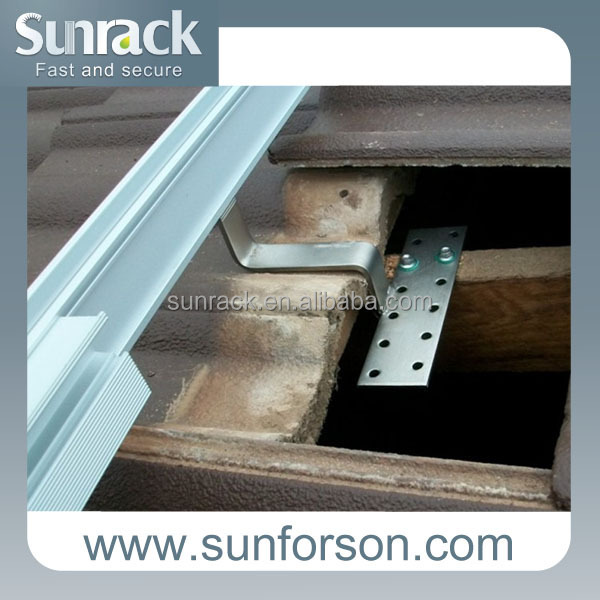 solar bracket hook for tile roof railing system