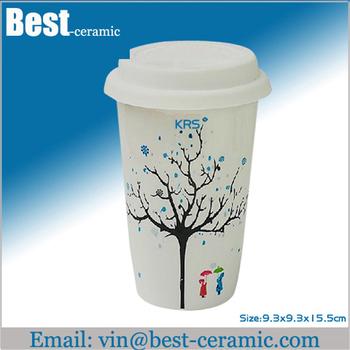 plaine blanc tasse caf en porcelaine avec couvercle personnalis en c ramique tasse de th en. Black Bedroom Furniture Sets. Home Design Ideas