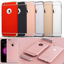 Hybrid Hard Back Cover Ultra Thin Electroplating Frame Slim Armor shockproof 3 In 1 Hard Pc Case For Iphone 6 6 Plus