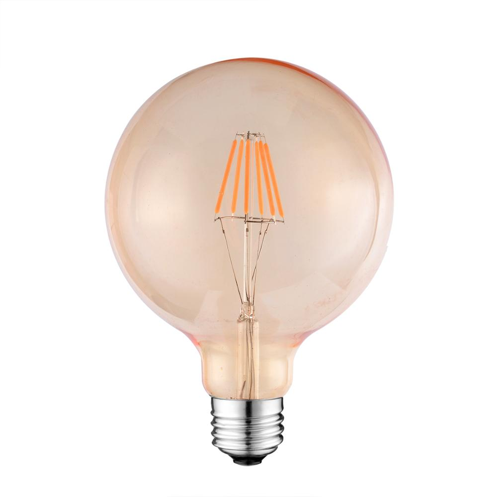 st64 led edison 6w bulb lights flat filament lamp 110v-240v