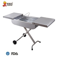 Outdoor Impermeabile In Acciaio Inox Portatile del Carbone di legna Trolley Barbecue <span class=keywords><strong>Grill</strong></span>