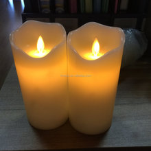 led flameless moving wick candle with CE