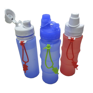 2017 alibaba best sellers food grade silicone collapsible sports water bottle custom your private label
