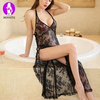 WY-923 See Through Nightgown Mature Women Sexy Nightgowns ,Sexy Pajama