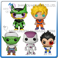 Mini Qute Funko Pop 5 styles Anime Dragon ball Perfect Cell Goku super hero action figures cartoon models educational toy