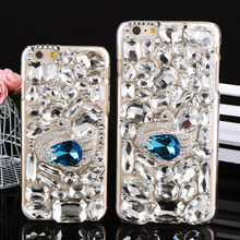 Blue Diamond Rhinestone Crystal Hard Plastic Cell Phone Cases for iPhone 6 and iPhone 6 plus