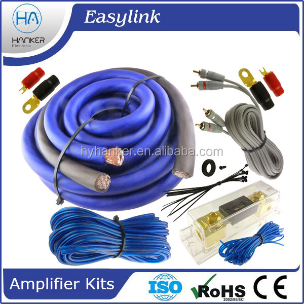 power cable car radio Amplifier Wiring kits, high quality
