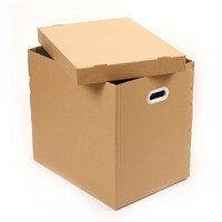 plastic carry handle carton box for heavy package corrugated carton
