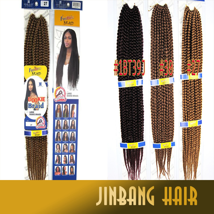 2016 Hot Quality Janet collection crochet hair 3x box braid synthetic marley Janet collection box braid