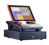 Colorful All In One Pos machine/pos system/pos terminal with Thermal Printer, customer display, Cash box, Software