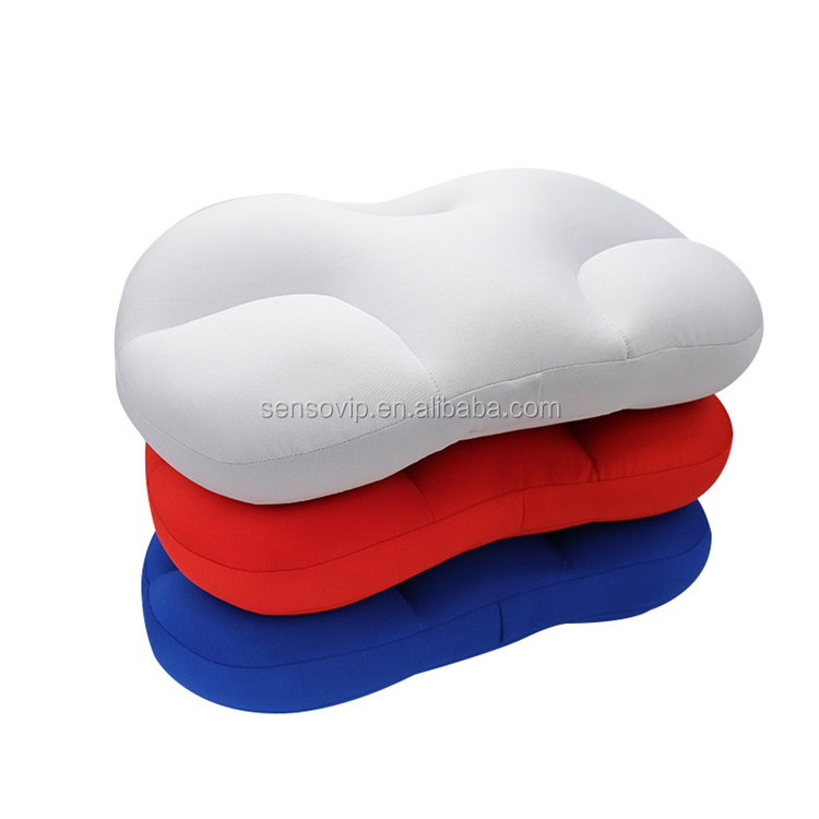 3D Pillow  Deep Sleep Addiction Ergonomic  Head Rest Sleep Cushion With Micro Airballs Filling Washable Travel Neck Pillows