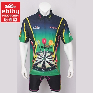 China factory sublimation dart jersey shirts for team custom dart clothing