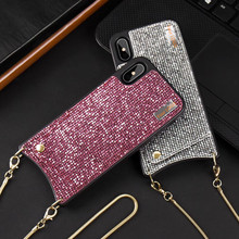 2019 Vrouwen Glanzend Strass Bumper Sprankelende Glitter Cover Bling Diamond Phone Case <span class=keywords><strong>Tpu</strong></span> En Pc Voor Iphone Xs Max