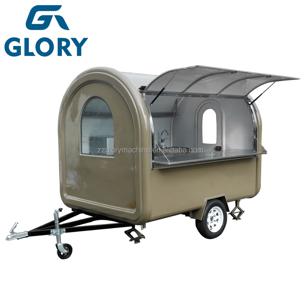 Commercial used street fashion mobile food cart, bike food cart trailer for sale