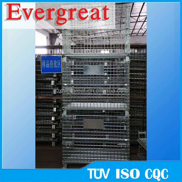 stackable steel storage bins/Iron Cage/pallet stillage cage
