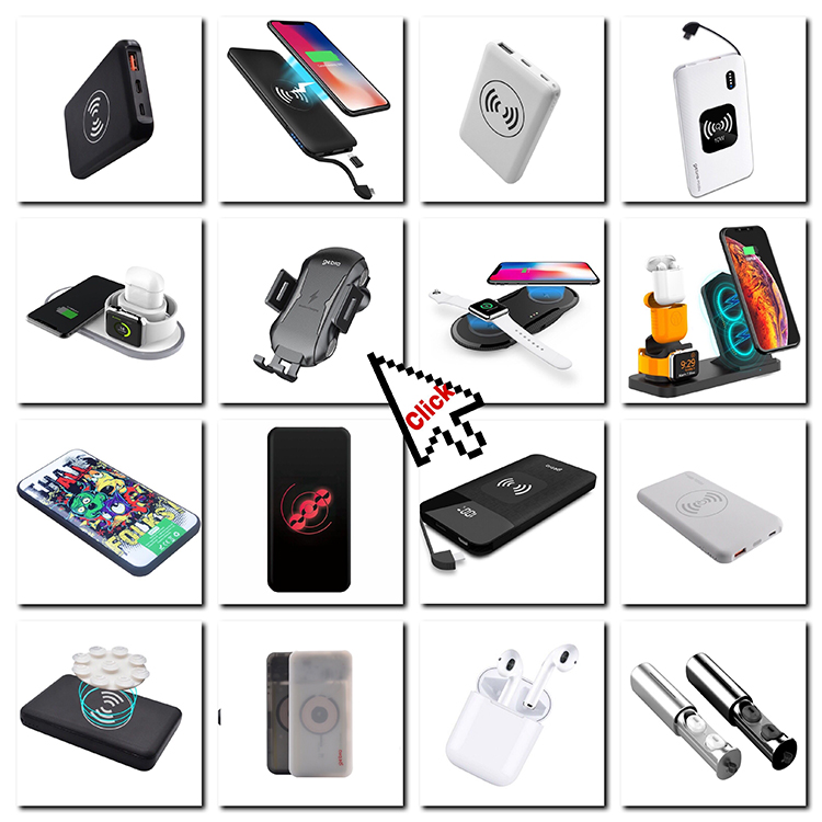 2020 New Fast Charging Wireless Power Bank 10000mAh, Portable Polymer Battery Power Bank