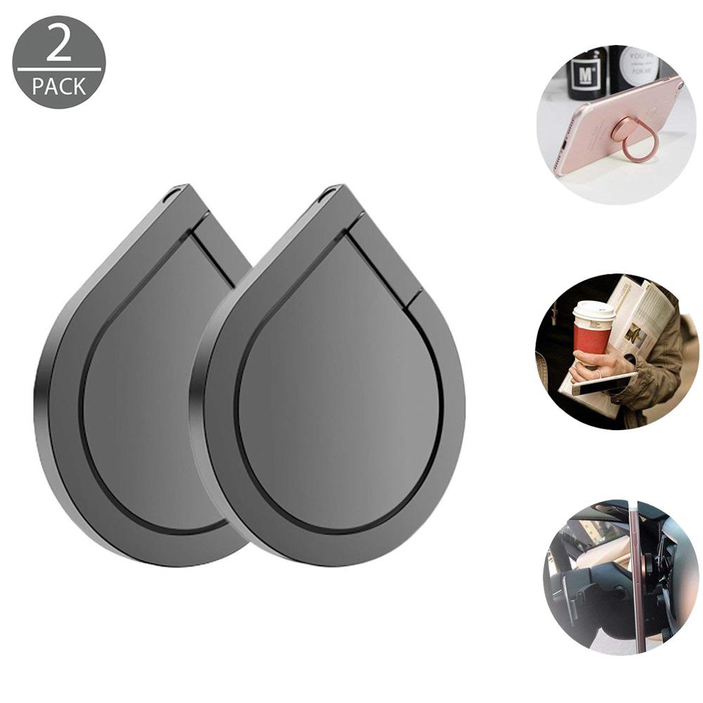 2 Pack 360 Degree Rotation Metal Finger Mobile Phone Ring Holder