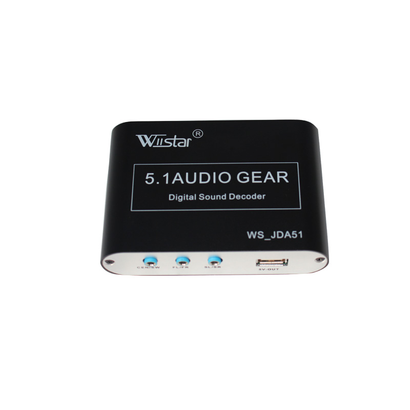 Wiistar 5 1 ch audio decoder SPDIF Coaxial to RCA DTS AC3 digital to 5 1