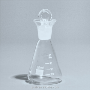 Manufacturer High Quality Wholesale Lab Glassware Conical Iodine Flask with ground-in glass stopper Boro 3.3 Glass