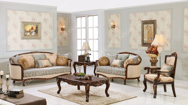 French Furniture Style Sofa Set Modern Furniture Guangzhou American Classic  Sofa