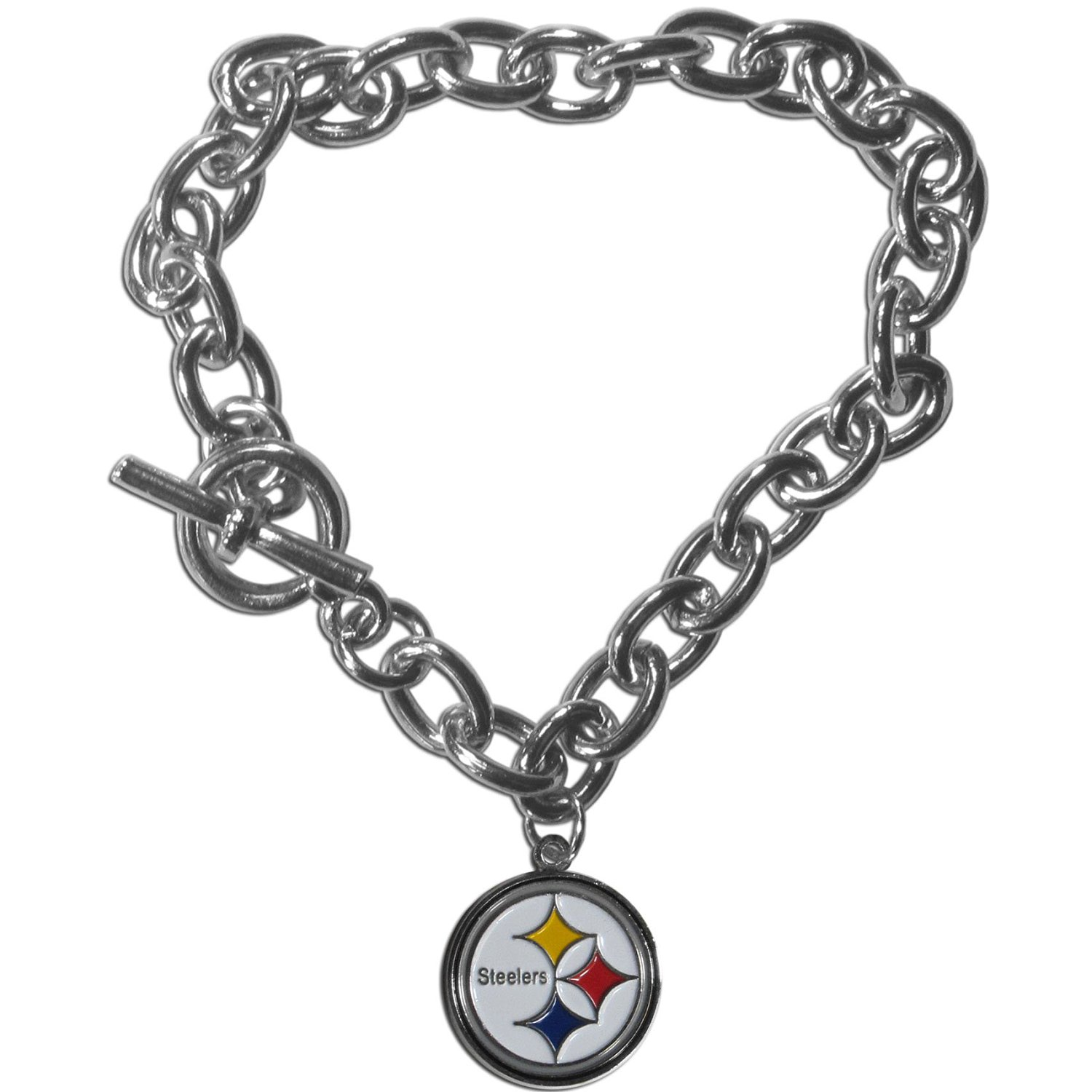 1160e3d2fc2 Get Quotations · Pittsburgh Steelers Charm Chain Bracelet