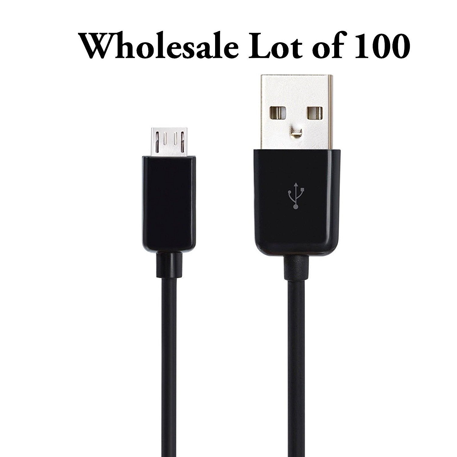 Focuslife 100 Wholesale Micro-USB Charger Data Sync Cable Cord for Samsung Galaxy S2 S3 S4 S5 S6 Edge Note 1 2 3 4 5 I II III LG G2 G3 G4 Nexus Motorola Droid