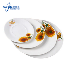 2017 Customizable Beautiful And Good Quanlity Restaurant And Hotel Dinner Ceramic Plates