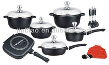 NEW design fashion die cast aluminum 21pcs nonstick cookware/marble coated cookware