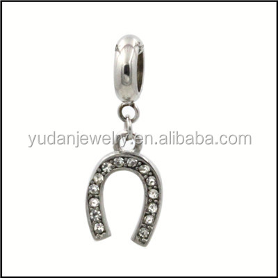 Wholesale Stainless steel horseshoe charm