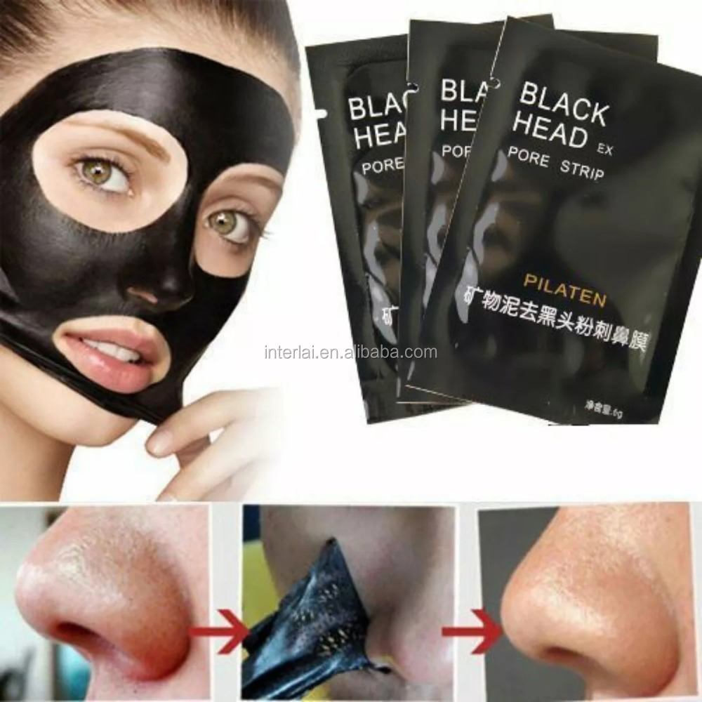 Mascarilla blackhead pilaten peel off nose Mask, Mineral Mud Black Head Removal Mask