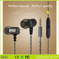 Snake veins metal wired earphone in ear earbuds with microphone ,Compatible with all system