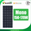 25 years Bluesun top quality mono 170W 150W solar panel pakistan lahore