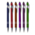 Rubber coating metal click pen with stylus