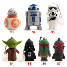 Pen Drive 64GB, Cartoon USB Pen Drive For Darth Vader 4GB/8GB/16GB/32GB USB Flash Drive Flash Memory Stick Pendrive U Disk