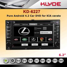 "2dins 6.2"" HD digital touch screen 2006-2010 Kia cerato car dvd with android system"