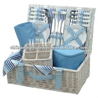 Promotional Natural Gift Set Willow Picnic basket