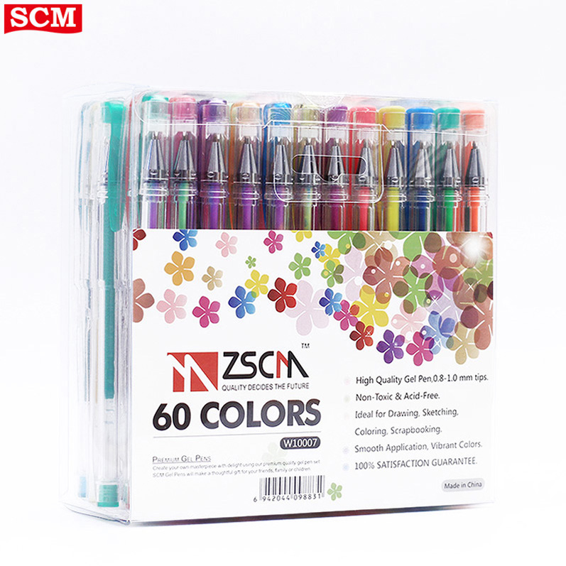 Color Gel Pen Sets Hot Sell Multi Function 60 Unique Gel Pen Gift